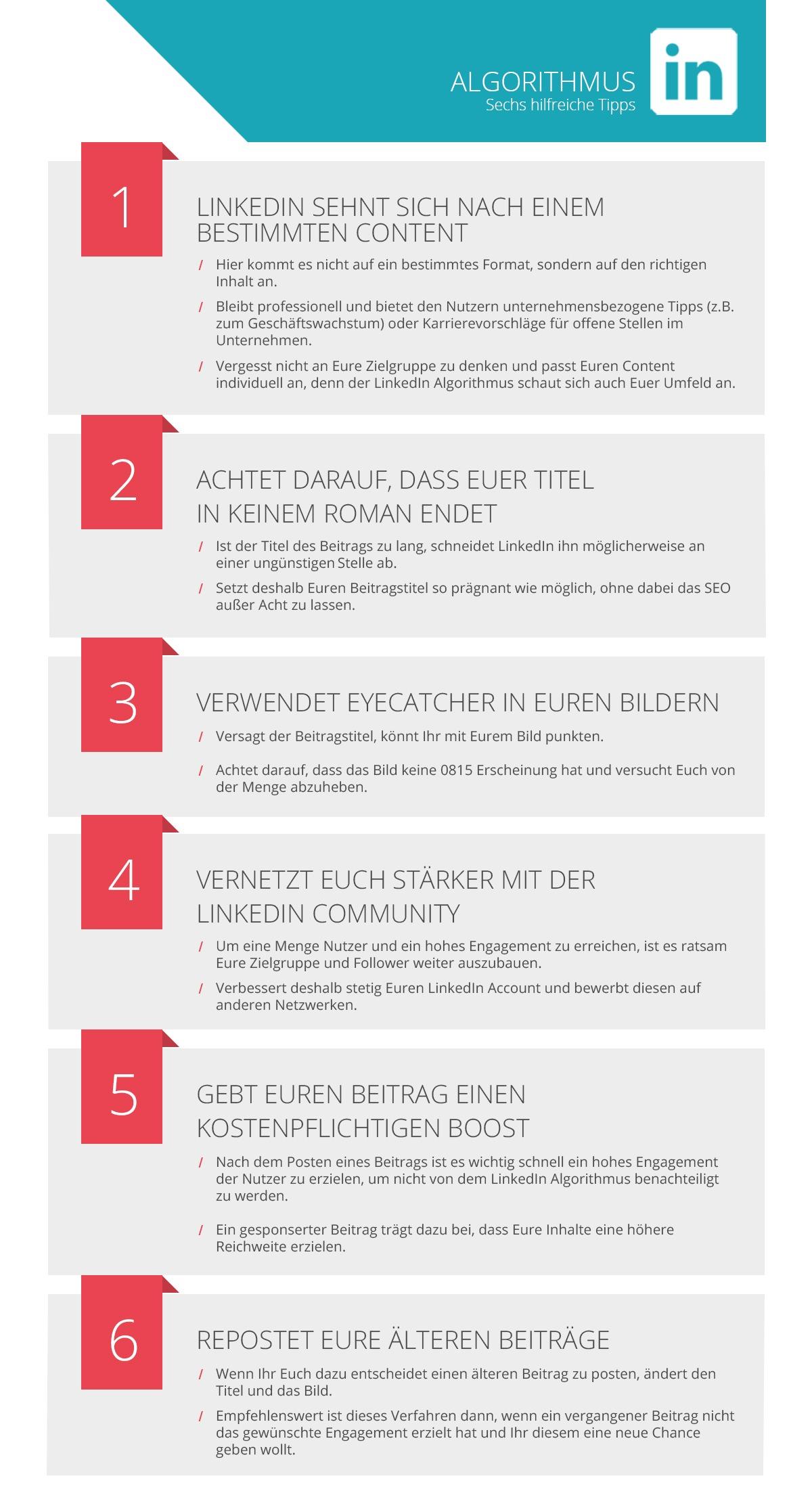 LinkedIn; LinkedIn Algorithmus; Tipps