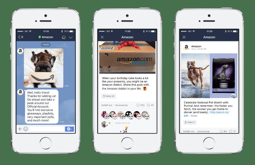 Amazon auf LINE -Einsatz von LINE im Unternehmen