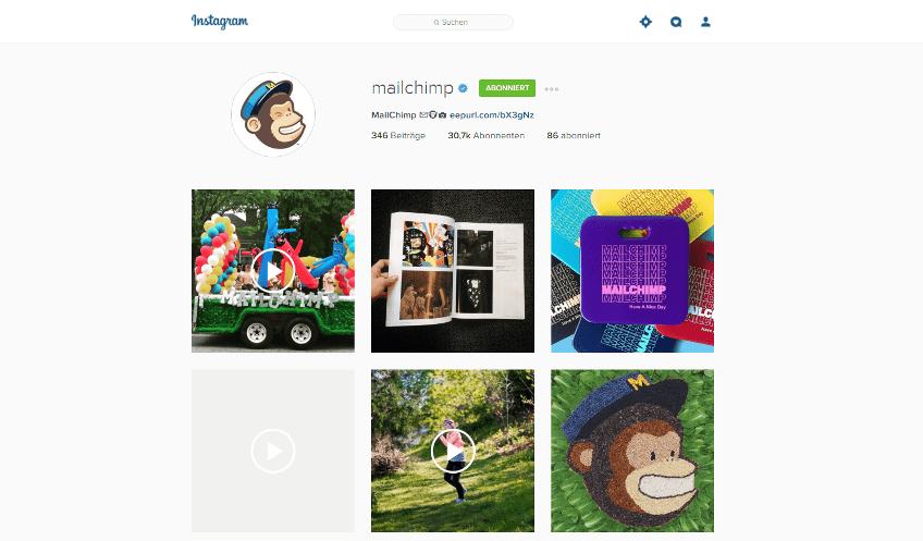 Instagram Ads im B2B Mailchimp