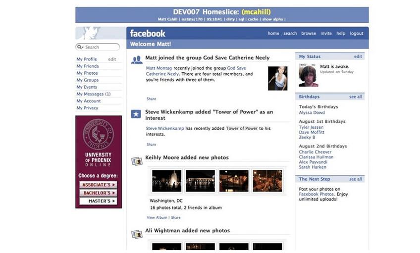 Newsfeed Facebook 10 Jahre
