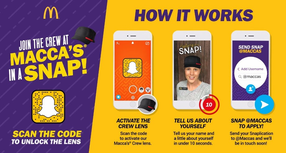 snapchat-recruiting-mcdonalds