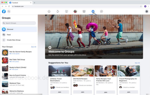 Facebook-Gruppen-Design