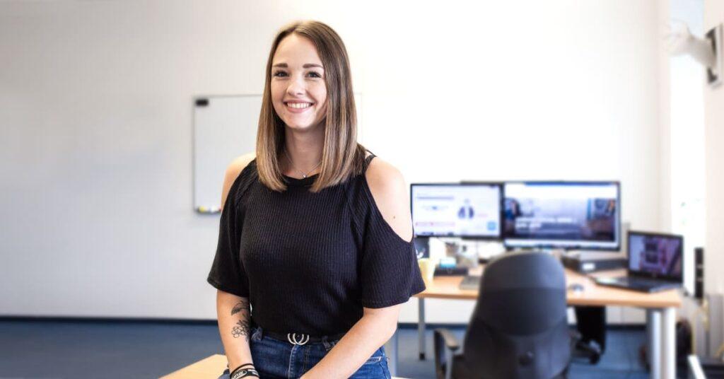 Marketing Assistentin bei Interview
