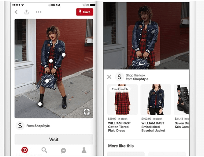 Pinterest Bild von Outfit mit Empfehlungen für Modeartikel