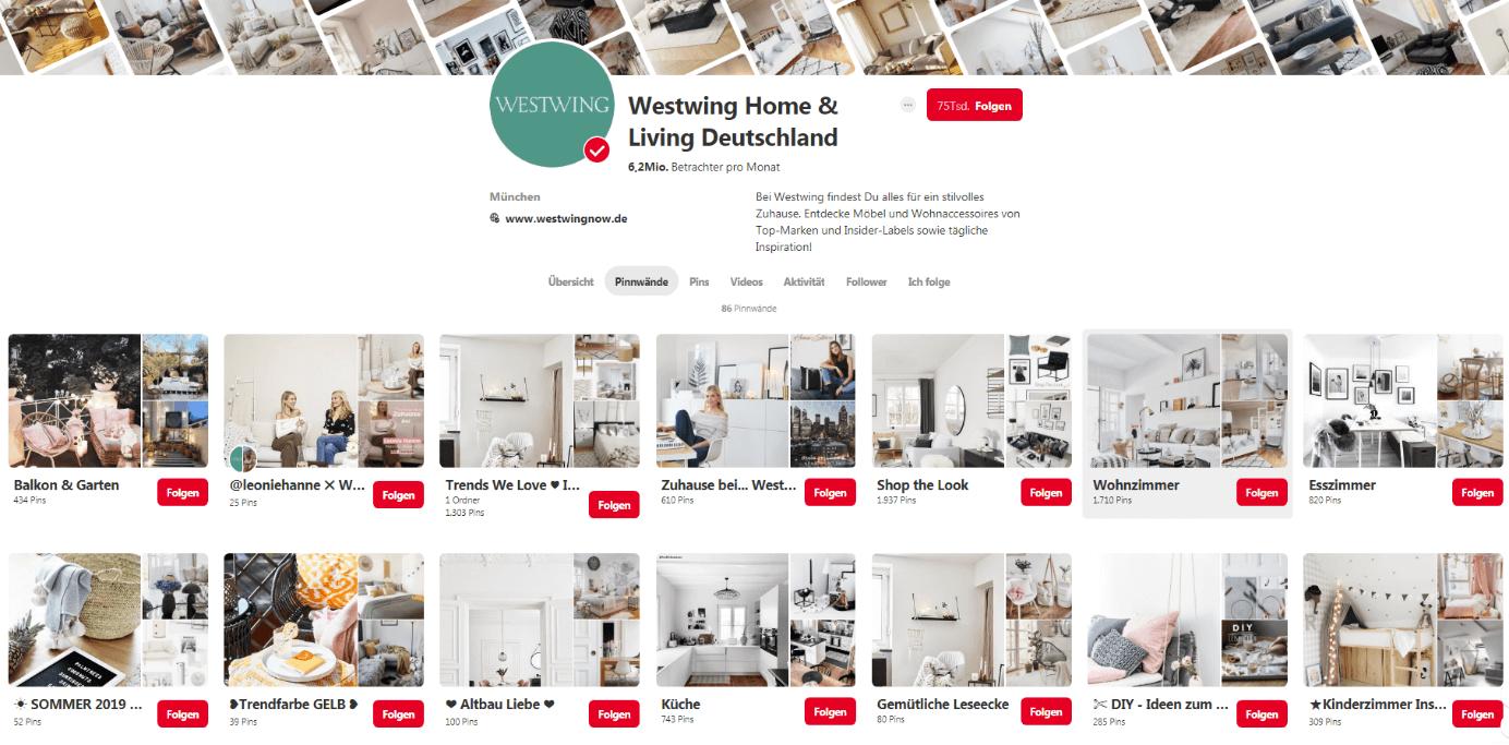 Pinterest Startseite Westwing Home & Living Deutschland