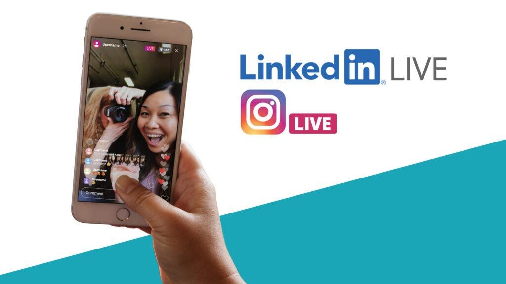 LinkedIn Live oder Instagram Live