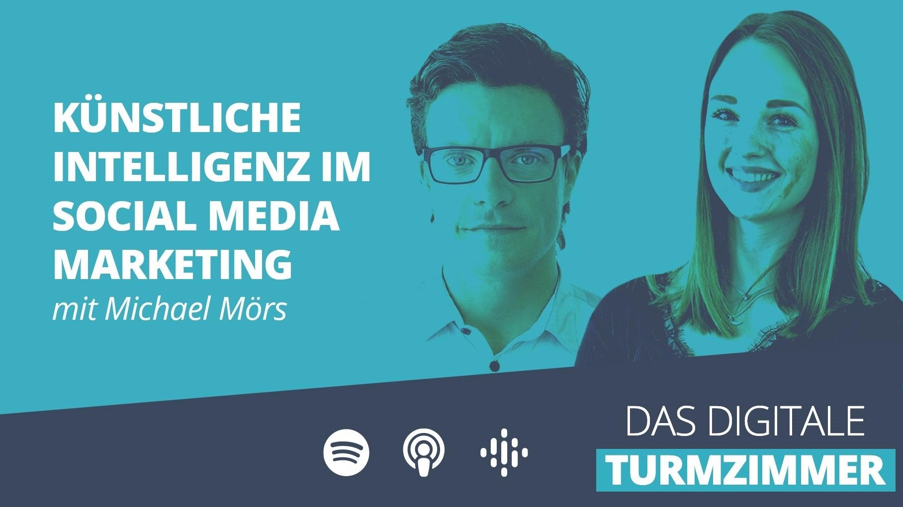 """Linkvorschau für den Podcast """"Künstliche Intelligenz im Social Media Marketing"""""""