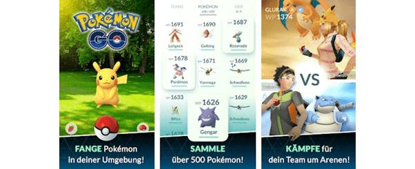 Screenshots vom Smartphone Spiel
