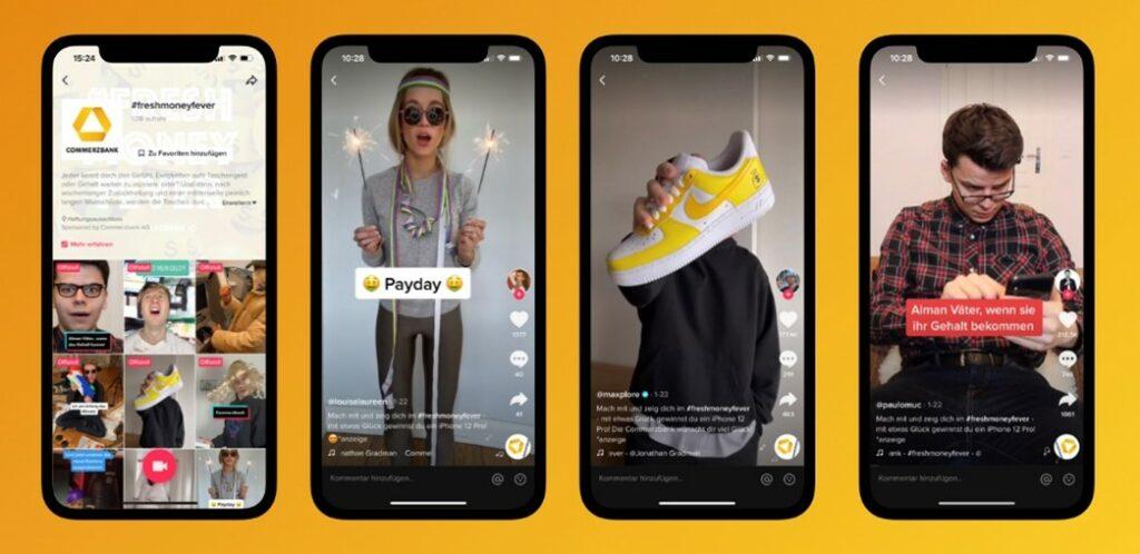 Screenshot verschiedener TikTok Videos
